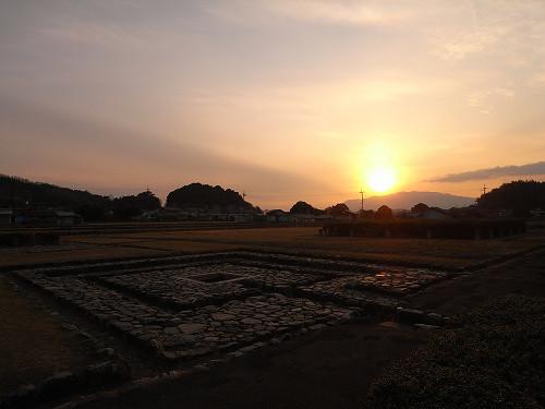 古の都『飛鳥京跡』の夕景を見てきました@明日香村