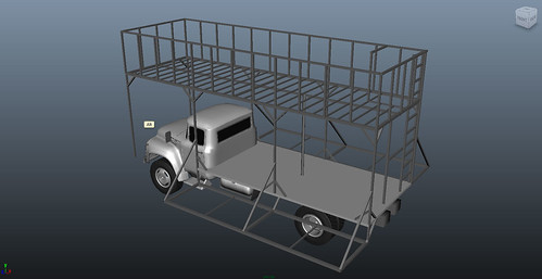 Truck with frame - isometric
