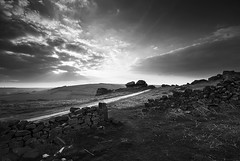 Walls On Froggatt Edge_bw (andy_AHG) Tags: sunset rural outdoors evening spring rocks derwentvalley derbyshire peakdistrict scenic moors pennines darkpeak britishcountryside northernengland froggattedge landscapephotography beautifullandscapes easternedges