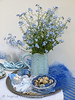 Blue Easter (Of Spring and Summer) Tags: flowers blue stilllife white inspiration flower art home cup nature floral leaves vintage garden easter photography design leaf bottle ribbons crystals bottles crystal lace embroidery interior napkin creative feathers plate bowl retro tape fabric eggs vase tray romantic antiques tablecloth cottagestyle bluewhite vases fabrics eastereggs washi tablecloths quaileggs chocolateeggs forgetmenots shabbychic poolepottery washitape ofspringandsummer prettystems