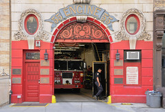 Engine 55, NYC (meg21210) Tags: nyc newyork lowereastside fireman fireengine firehouse