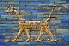 Muuu from the Ishtar Gate of Babylon (Sumer and Akkad!) Tags: muuu dragon babylon ishtargate nebuchadnezzarii neobabylonianperiod pergamonmuseum glazedbrick germany iraq mesopotamia sirruu sirrush