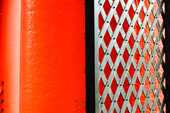 BRYAN_20160628_IMG_8505 (stephenbryan825) Tags: albertdock liverpool abstracts columns contrast gate graphic red selects