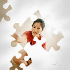 75/365 Jigsaw (itskatrinayu) Tags: jigsaw puzzle self portrait indoor conceptual manipulation 365 project