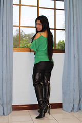 Rear Zip Thigh Boots (johnerly03) Tags: ely philippines asian filipina boots black thigh high heel rear zip long hair fashion