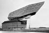 Harbour house # 1 (!FVT!) Tags: architecture photography blackwhite black bw buildings antwerp weldingglass