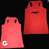 Camiseta nadadora roja Jack murcielago (Mhemnoch) Tags: jack handmade artesanal camiseta timburton artesania camisetas pesadillaantesdenavidad hechoamano murcielagos pintadoamano pinturasobretela eltallerdemhemnochtk