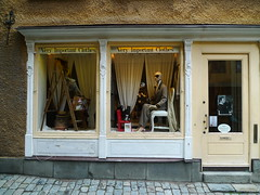 Taking Couture Seriously (wawrus) Tags: eye mannequin shop store clothing european mask very sweden stockholm clothes stan boutique scandinavia important gamla