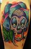 Skull & Flower Tattoo Tattoo by Eric