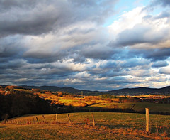 Floodlighted (Lothbrok'sYen) Tags: landscape february sunlight floodlighted germany hessen clouds wolken sun g10 lichtflut sonne landschaft potofgold supershot theunforgettablepictures abigfave anawesomeshot