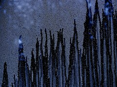 City Lights (lynn.h.armstrong) Tags: city blue ontario canada black art window wet water geotagged photography lights photo droplets long bokeh sony south cybershot lynn h condensation armstrong dripping dsc stormont moisture gettyimages sault ingleside attributionnoderivs ccbynd hx1 dschx1 lynnharmstrong requesttolicence