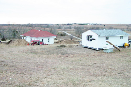 Our homestead after we got the house.
