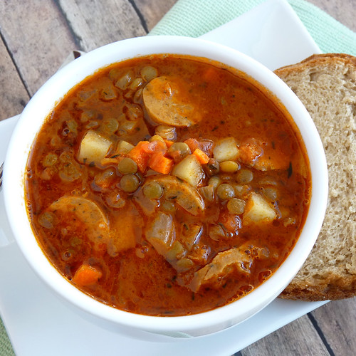 Sal's Lentil and Sausage Soup