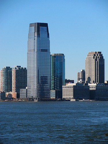 Jersey City Skyline along the Hudson River