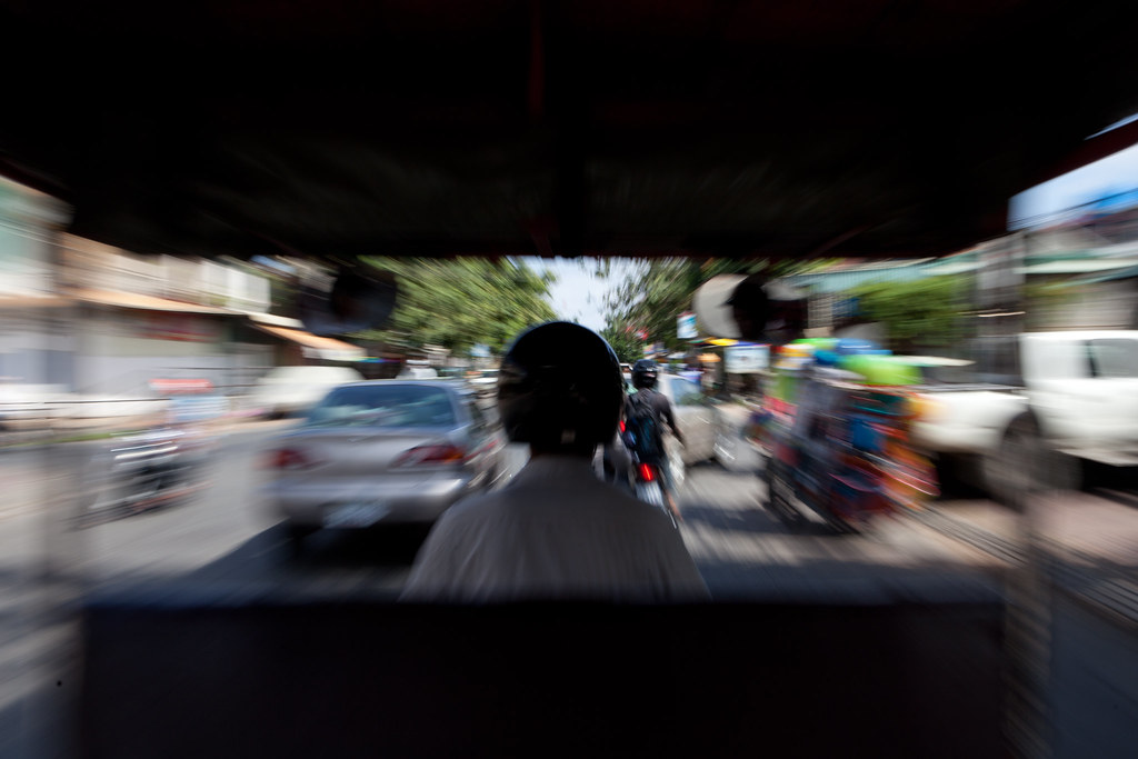 Tuk-tuking in Phnom Penh