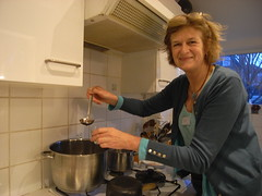 Tessa dishes out the mulled wine