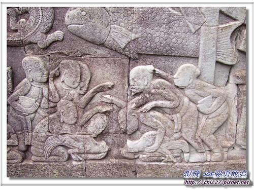 吳哥城-鬥雞雕刻