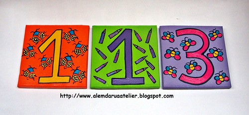 números pintados à mão