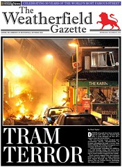 Weatherfield Gazette front page