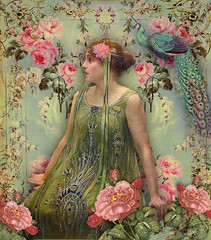 (Romany Soup) Tags: roses vintage peacock