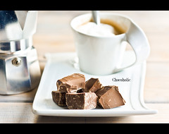Chocoholic (Carlo Vingerling) Tags: new food detail coffee chocolat bialetti chocoholic