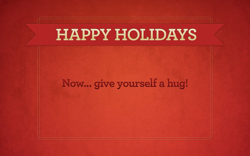 happy holidays wallpaper. Happy Holidays Hug [wallpaper]. For you!