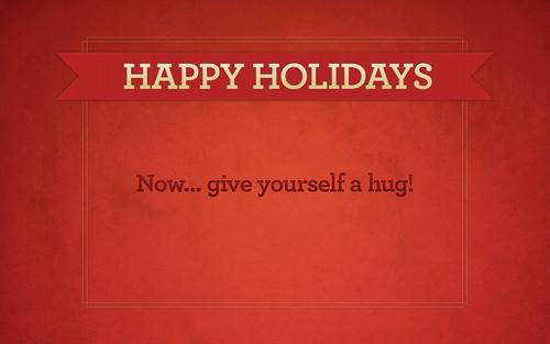 happy holidays wallpaper. Happy Holidays Hug [wallpaper]. For you!