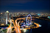Marina Bay Sands Skypark - Higher than the Flyer (Souvik_Prometure) Tags: esplanade cbd bluehour centralbusinessdistrict skypark marinabay anawesomeshot nikond90 ultimateshot singaporeflyer marinabaysands singaporeeye souvikbhattacharya singaporebluehour sigma1020mmsingapore marinabaysandsskypark mbsskypark sandssands