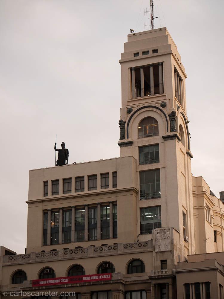 Círculo de Bellas Artes y su Atenea