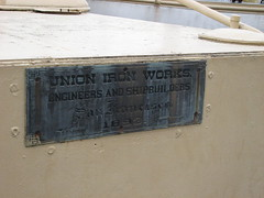 Union Iron Works plaque on the USS Olympia (FranMoff) Tags: plaque boat san francisco iron ship union navy works olympia cruiser uss c6 ca15 protectedcruiser cl15 ix40