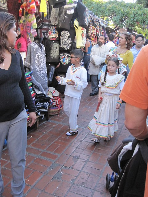 Children dressed up for La Virgen de Guadalupe festivities at Olvera St