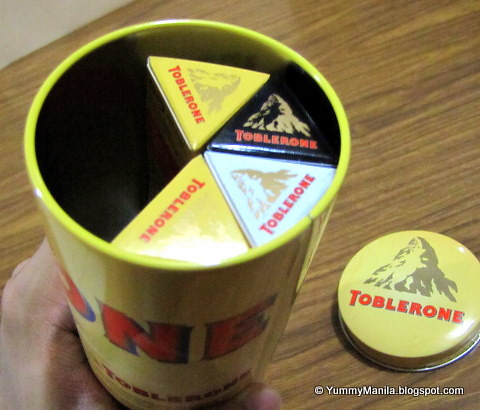 Toblerone Tin Cans