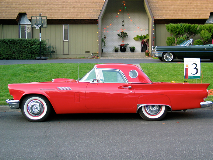 1957 Red Thunderbird