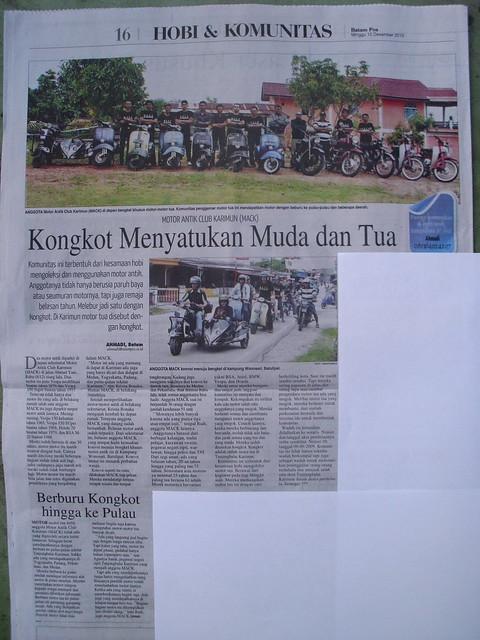 MACK di koran BATAM POS edisi 12-12-2010