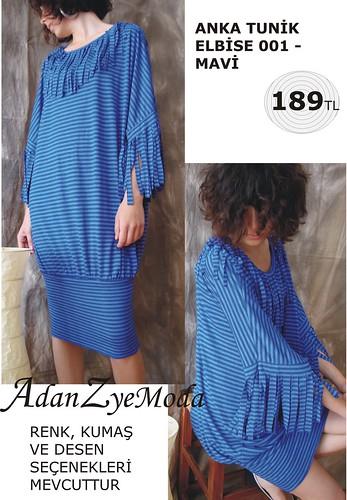 Anka Tunik Elbise 001 blue