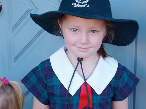 Amy's first day of Kindy in 2004