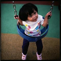 (19/77) Tags: portrait slr film girl little swing malaysia 1977 negativescan kiev88 mediumfromat kodakektacolorpro160 autaut canoscan8800f arsat80mmf28 myasin