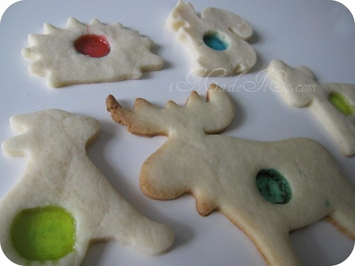 sugar cookies with hard candy center
