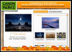 1st Prize Winner for the Canon Photography in the Parks contest!