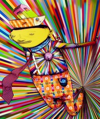 Os Gemeos @ Lehmann Maupin (LoisInWonderland) Tags: chelsea character exhibit os gemeos lehmannmaupingallery lawofthejungle