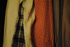 Shirts in a Wardrobe (Maggsinho) Tags: white clothes gingham shirts wardrobe checks