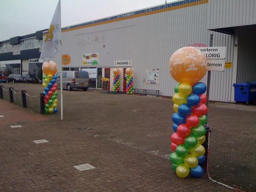 Ballonpilaar Breed Rond Ballorig Oud Beijerland