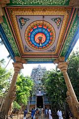Painting at Thiruvanaikaval temple (Light and Life -Murali முரளி) Tags: india art temple culture shiva hindu tamilnadu trichy chola thiruvanaikaval thiruchirapalli img2345p1sc thiruvanaikavaltemple kochenga kochengachola