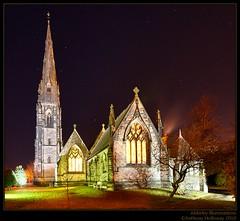 Alderley Illuminations (Ant_H.) Tags: church night sony hdr sigma1020mm alderleyedge a700 photoengine oloneo