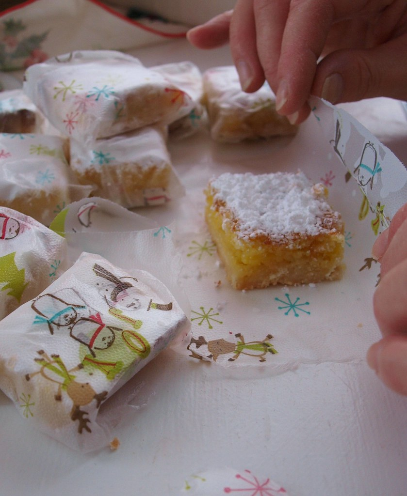 Wrapping Lemon Bars