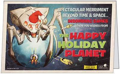 Insomniac Games 2010 Holiday card
