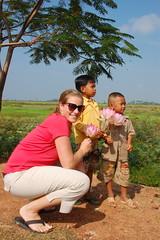with the lotus boys (farrari524) Tags: people me cambodia strangers tonlesap floatingvillage
