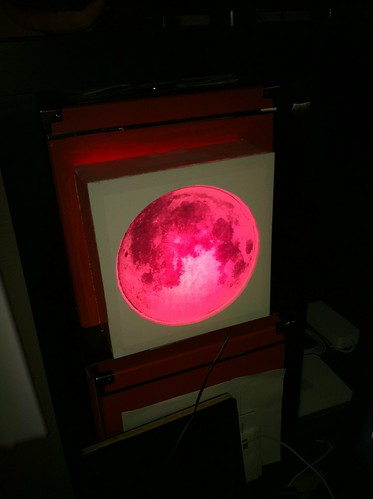 Lunar eclipse simulator