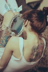 Her mirror (basistka) Tags: woman girl tattoo vintage mirror poland basistka