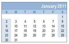 January 2011 -